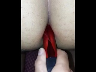 Red Male Anal Dildo Fuck