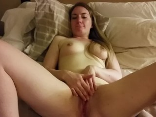 Clit slapping & rubbing, bf fingering my pussy & dick on my tits [AMATEUR]