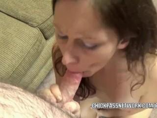 Curvy MILF Trisha Delight is going down on a stiff cock