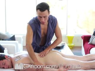 GayRoom - Massage Turns Anal! Blake Stone & Robbie Rivers