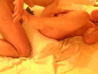 milf gets fucked in pussy and arse and fists herself