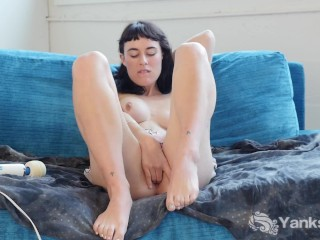 Busty Olive Vibrating Her Quim