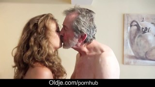 Preview 6 of Teenie maid knows how to fuck French old cock cleaning cumshot in mouth
