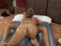 real lesbian slippery nuru massage sex
