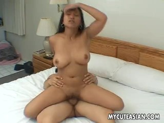 Beautiful and busty brunette humps that fat erect cocker