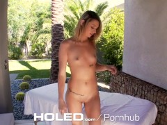 HOLED – Brat Aspen Ora deserve some deep anal punishment