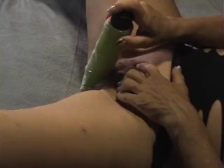 Daddy catches daughter masturbating