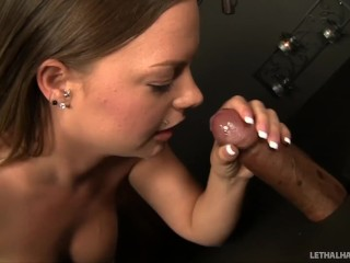 Pornstar Katy Karson visits preist for a blowjob confession