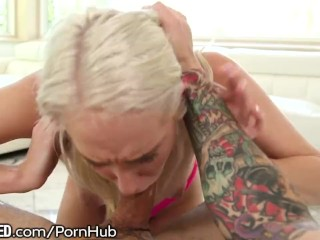 Throated Candence Lux Shows her Slut Skills!