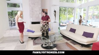 FamilyStrokes - Nerdy Step-Bro Fucked Me For Homework  step-brother cumshot hardcore brunette familystrokes step-sister shaved step-sis bigcock facialize facial doggystyle avery adair step-sibling seduce smallttis