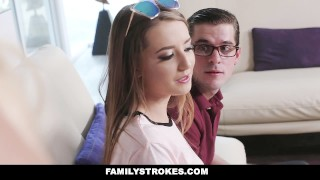 FamilyStrokes - Nerdy Step-Bro Fucked Me For Homework  step sis step sibling cumshot hardcore brunette familystrokes shaved bigcock facialize facial doggystyle step brother avery adair seduce smallttis step sister