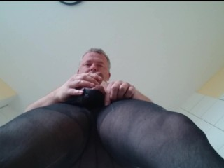Piss and cum ** nylon fetish **