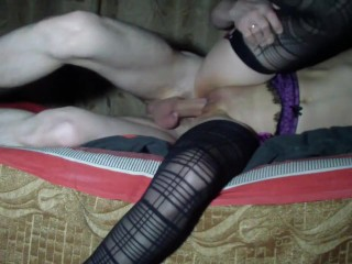 Double cum on pussy and mouth