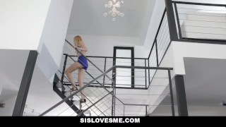 SisLovesMe - Playful Stepsis Loves Sex Games  doggy style step-siblings big-cock step-brother blonde skinny missionary hardcore step-sister step-sis sislovesme small-tits facialize facial alexa game cum shot