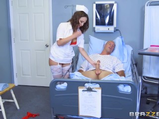Naughty nurse Lily Love fucks her patient - Brazzers