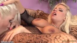 Busty Nikki Phoenix devours wet pussy of Britney Amber