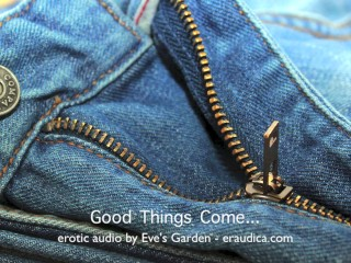 "Good things come...erotic audio for anyone who doesn't have a 12"" dick :P"
