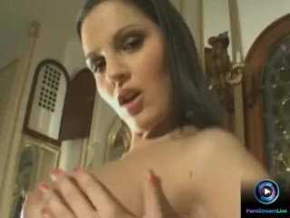 Fine model strips off to show her luscious tits and pussy