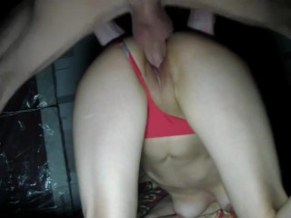 Doggystyle sex, titfuck and cum on tits