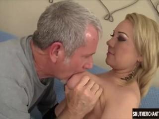 Horny blond girl Jasmine Gin gets fucked hard