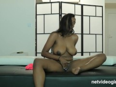 19yr Black & Busty First Timer Creampied At Calendar Audition