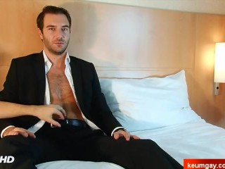 My banker in a porn where he get touched by a guy in spite of him !