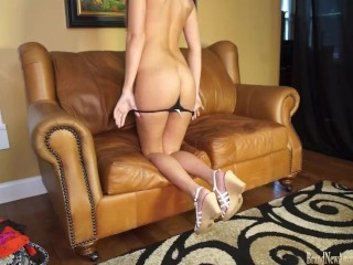 Hot girl Maci on casting couch fingering herself