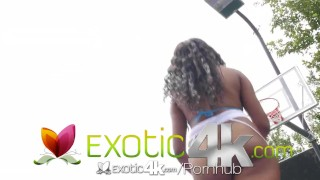 Exotic4K - Ebony Jenna Foxx fucked and takes facial