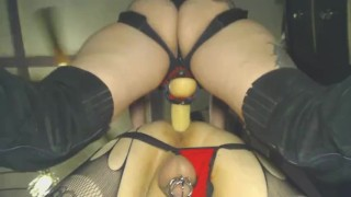 Taking Him My Way couple strap on pegging domination femdom anal ass fuck kink amateur monster cock rough sex