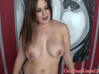 Slut Allison Moore gets on her knees and sucks your cock til you explode
