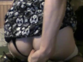 Crossdresser Fucks Dildo