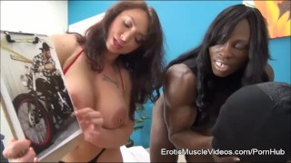 EroticMuscleVideos BrandiMae and Miss Treasure Train Slave To LOVE Cuckold  eroticmusclevideos bigtits kink muscle fbb big clit bdsm cuckold femdom fitness fetish