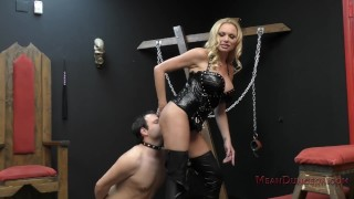 Briana Banks Femdom german ass licking femdom meandungeon big tits kink blonde dungeon domme slave asslicking assworship tattoo bdsm mistress boots stockings