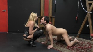 Briana Banks Femdom  big tits slave asslicking bdsm boots femdom blonde dungeon tattoo kink domme german assworship mistress stockings ass licking meandungeon