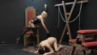 Briana Banks Femdom  big tits slave asslicking bdsm boots femdom blonde dungeon tattoo kink domme german assworship mistress stockings ass licking meandungeon