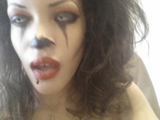 Clown slut dirty talks and masturbates until orgasm! MissLady666