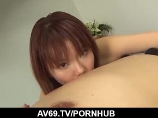 Creampie to end Himena Ebiharaґs crazy sex play