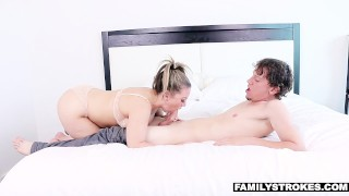 FamilyStrokes - Hot Milf Fucks Nerdy Step-Son On Vacation  carmen valentina hairy big-tits step-mother step-son wife mom cumshot milf brunette familystrokes mother step-mom bigcock facialize facial