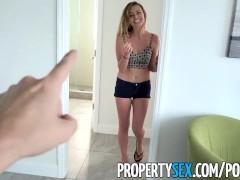 PropertySex - Landlord fucks ex-girlfriend's hot younger sister for rent