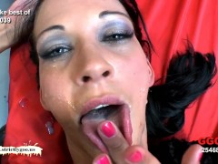 Bukkake time with sexy skinny Aymie - German Goo Girls