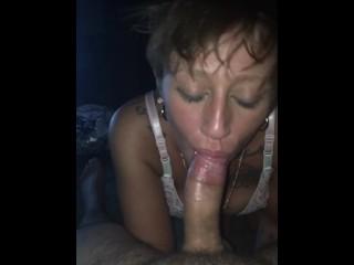 Taylormarie sucks boyfriends dick after wedding