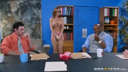 Brazzers - Britney Amber gets gang banged