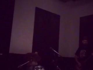 Felicity Feline drumming Space Rock Jam with Thundernaut band