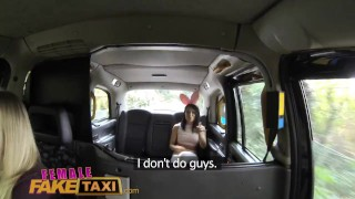 FemaleFakeTaxi Cute Asian has Lesbian bonnet sex with big tits MILF  hardcore reality petite femalefaketaxi asian lesbian real sex uk british small pov amateur