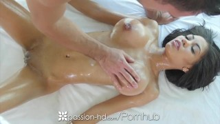 Passion-HD - Busty Shay Evans sucks and fucks hard cock during massage
