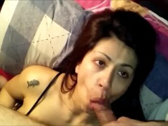 INCREDIBLE BLOWJOB SUCTIONED DE CUM SPERM TO THE BEAUTY MOUTH