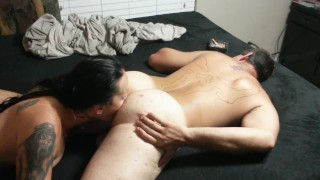 Preview 4 of GIA ROSE LICKS MY ASSHOLE, BEST RIMJOB EVER!