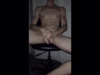 Hot guy blindfold cock work