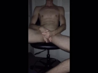Hot guy blindfold cock work