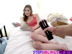 StepSiblingsCaught - Big Sis Helps Brother Cum